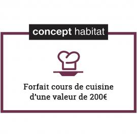 Forfait cours de cuisine 200€