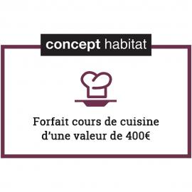 Forfait cours de cuisine 400€