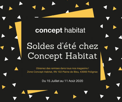 Soldes d'été Concept Habitat